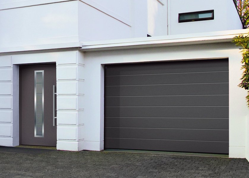Sectional garage doors
